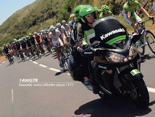 Kawasaki accompagne<br /> le Tour de France